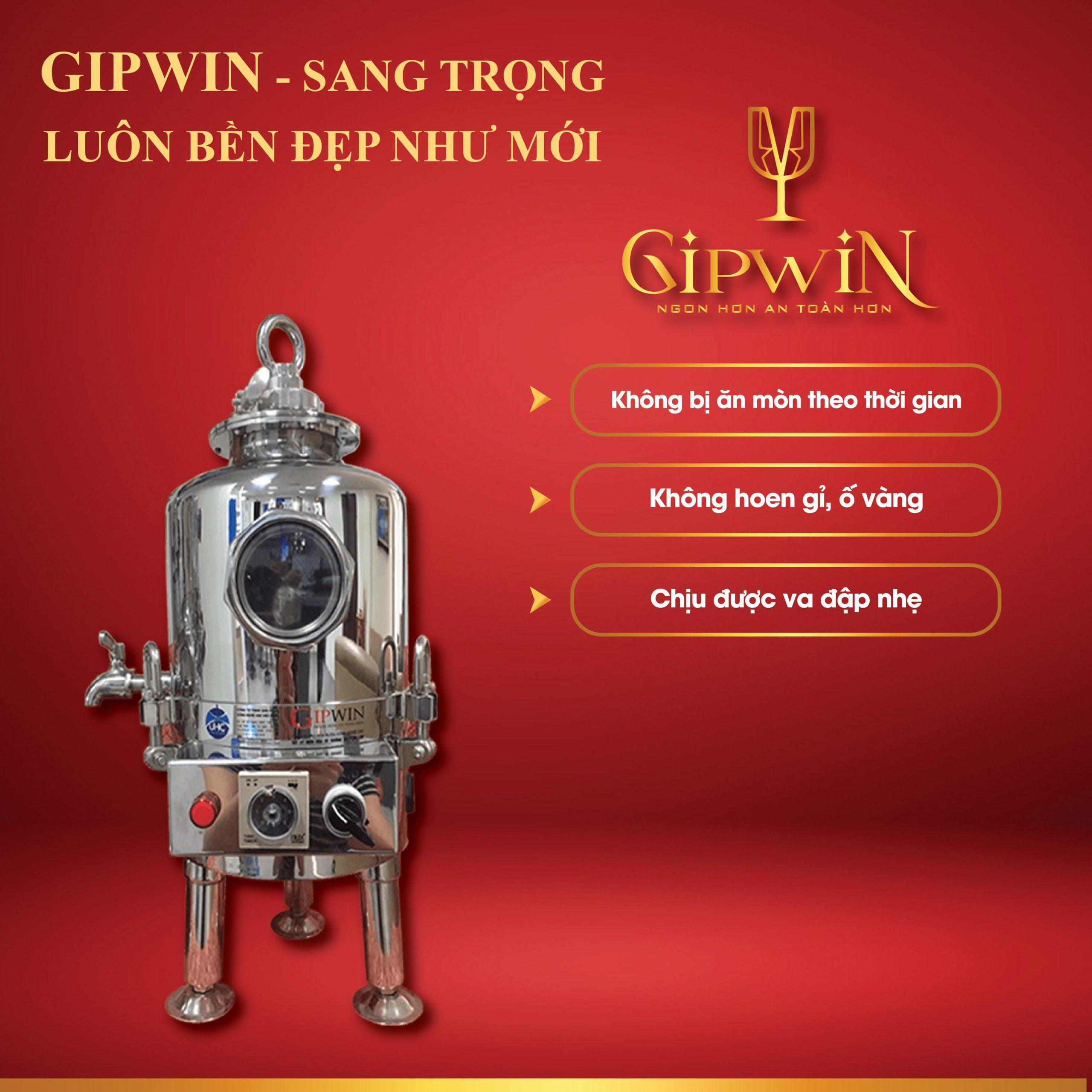 Gipwin - Công nghệ xử lý rượu hàng đầu Việt Nam