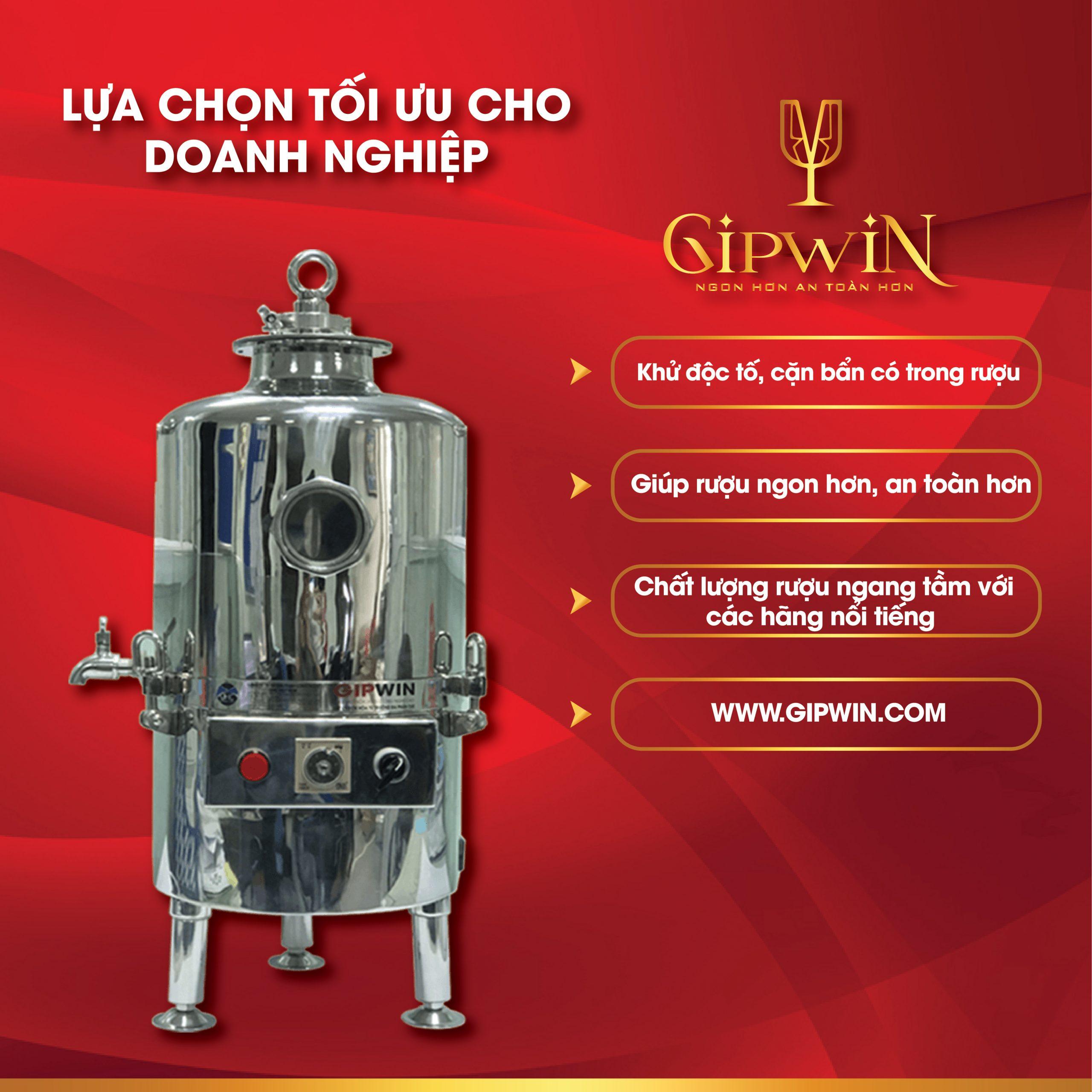 Gipwin - Lựa chọn tối ưu cho giải pháp xử lý rượu