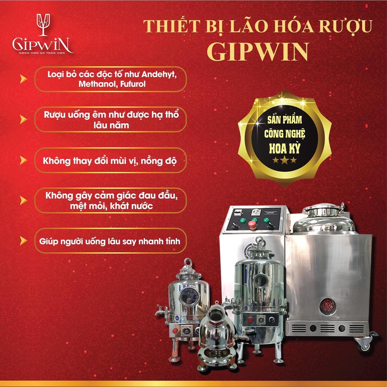 Ngon hơn, an toàn hơn khi sử dụng rượu qua thiết bị lão hóa rượu Gipwin
